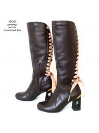 Сапоги  кожаные 18046