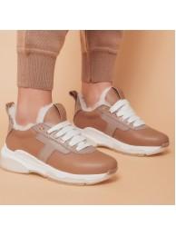 Кроссовки бежевые на меху 0075