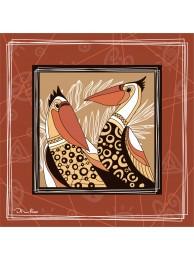 """Шелковый платок """"Пеликаны"""""""