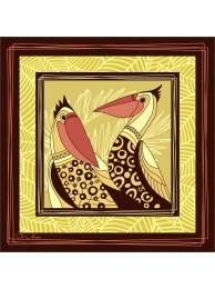 """Шелковый платок """"Пеликаны 2"""""""