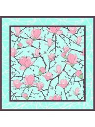 """Шелковый платок """"Magnolia -1"""""""