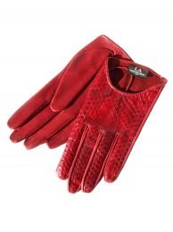 Перчатки из кожи питона, модель Cassia