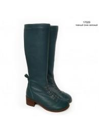 Сапоги  кожаные 17029