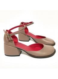 Туфли-деленки  кожаные 18012-3