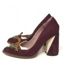 Туфли  замшевые 19002