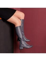 Сапоги  кожаные 17029-1