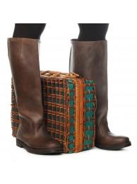 Сапоги  кожаные 15026 brown