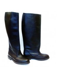 Сапоги  кожаные 15026 black
